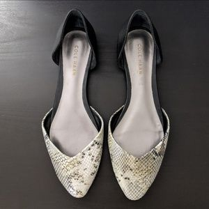Cole Haan Shoes - Cole Haan Crissy Snakeskin Black Skimmers